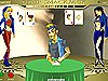 Gain to the bank in this strippocker game. Click the green button when you see that you can overcome the cards of your opponent and the red one when you see it difficult. Then, you will avoid to undress.